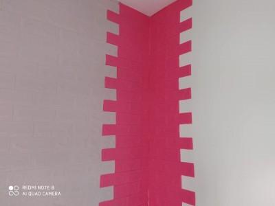 ورق جدران لاصق ذاتي لون زهري
