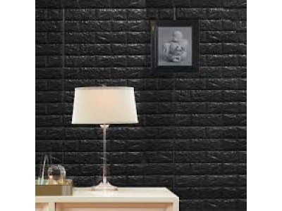 ورق جدران لاصق ذاتي لون أسود
