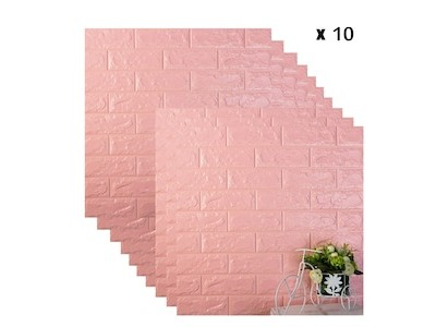 ورق جدران لاصق ذاتي لون زهري بارد
